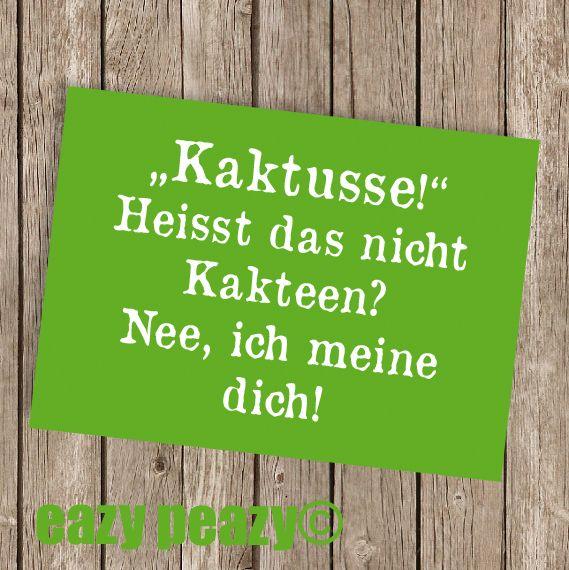 Humor - ★ KAKTUSSE! ★ Postkarte ★ - ein Designerstück von eazy-peazy bei DaWanda