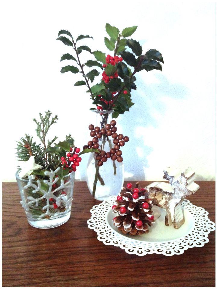 Vánoční dekorace z přírodnin :)