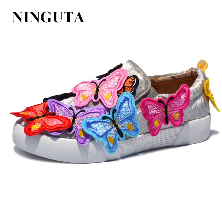 Cheap flat shoes, Buy Quality flat shoes women directly from China shoes woman Suppliers: NINGUTA cute butterfly flat shoes woman for autumn women loafers
