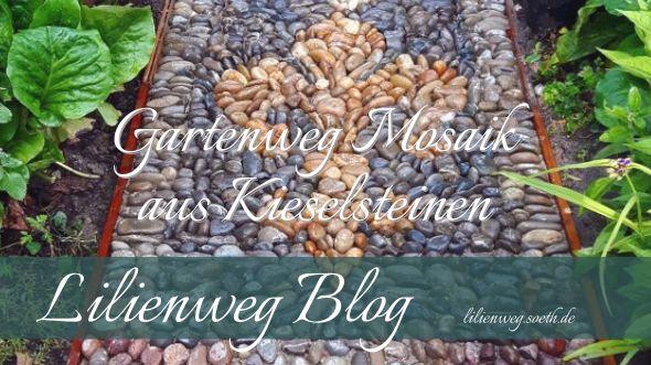 Wir haben uns einen Gartenweg mit farbigen, sortierten Kieselsteinen als Mosaik gelegt. Von Teppichen über Ornamenten bis Figuren alles aus Moränen Kies. http://lilienweg.soeth.de/2016/07/gartenweg-mosaik-aus-kieselsteinen/