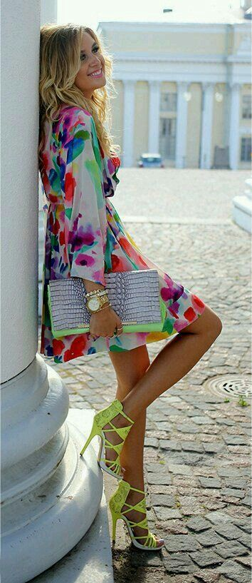 Colourfule dress