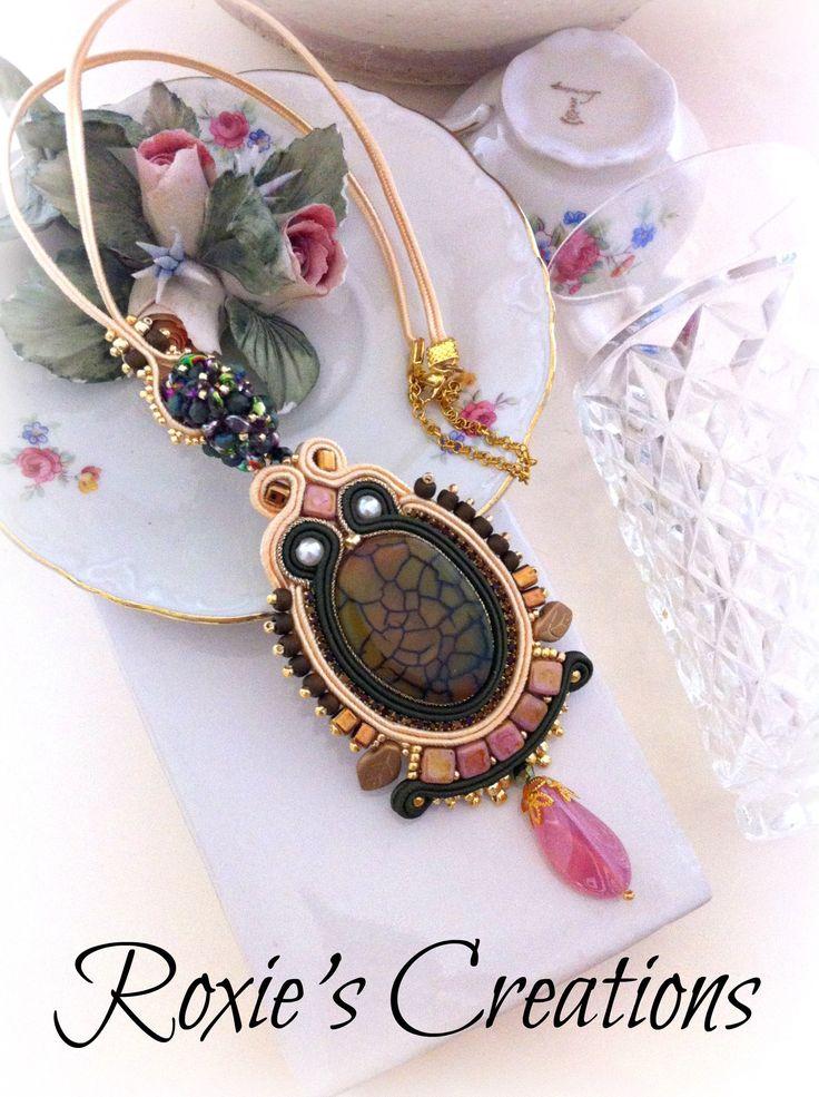 Soutache Necklace, Handmade Necklace, Soutache Jewelry, Handmade from Italy (spedizione in Italia già inclusa nel prezzo!) di LeGioieDiRoxie su Etsy