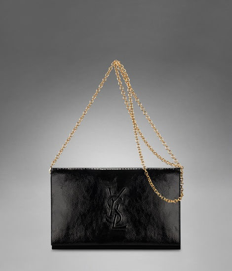 Check out YSL Logo Wallet with Chain in Black Patent Leather & Leather at http://www.ysl.com/en_US/product/804873823