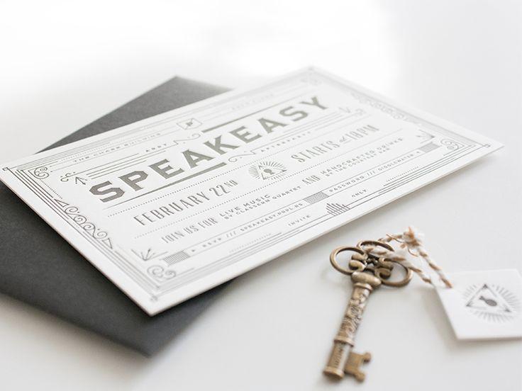 Speakeasy Invitations | PRPL Speakeasy Invitation