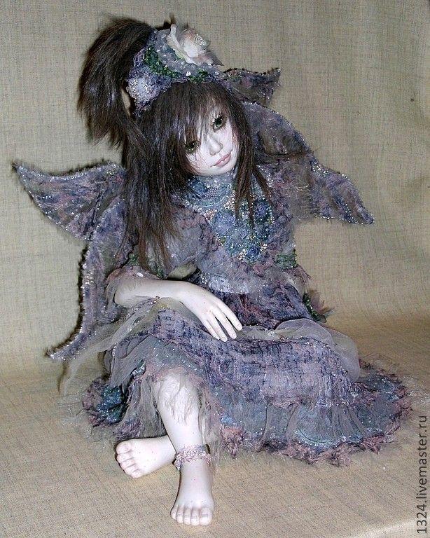 """Купить Кукла """"Фея Утреннего Тумана"""" - серебряный, утро, рассвет, туман, сказочный персонаж, сказка"""
