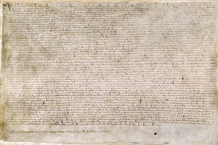 """""""The basic purpose of Magna Carta, to define and limit the powers of the crown, had parallels and precedents in southern France and Spain, and even in distant Hungary. Perhaps that is unsurprising, since the English monarchy in around 1200 was an international one. King John was not only king of England, he was also lord of Ireland, duke of Normandy, count of Anjou, and duke of Aquitaine, the ruler of an empire covering most of western France."""" Image: Magna Carta, Public Domain"""