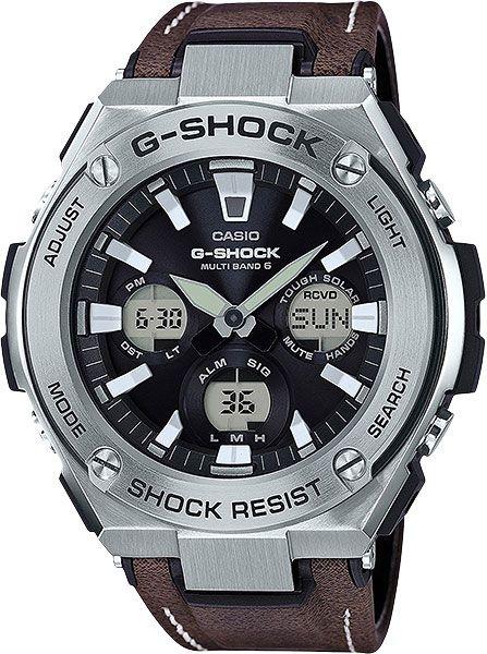 Мужские японские наручные часы Casio G-SHOCK GST-W130L-1A с хронографом