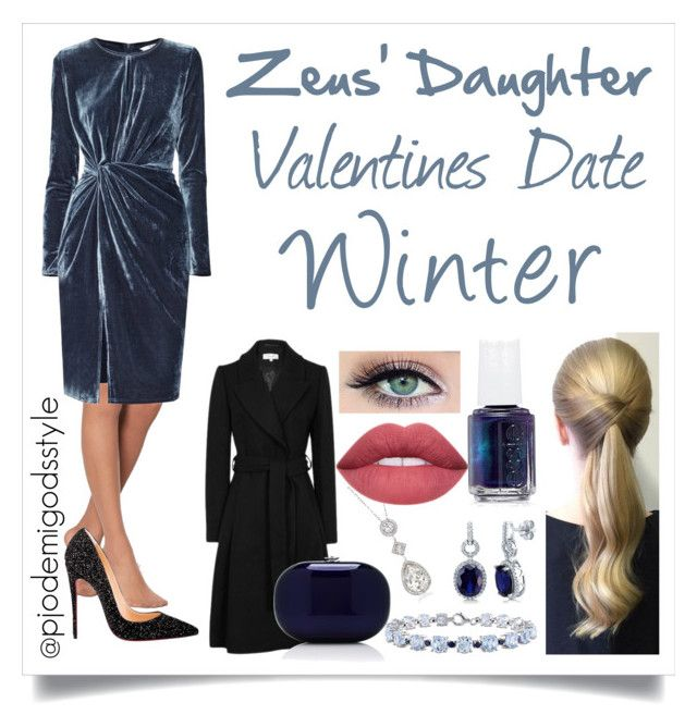 """Zeus' Daughter Winter #1"" by misszizzentyu ❤ liked on Polyvore featuring Pretty Polly, Paisie, Christian Louboutin, Jeffrey Levinson, Miadora, BERRICLE, Swarovski and Essie"