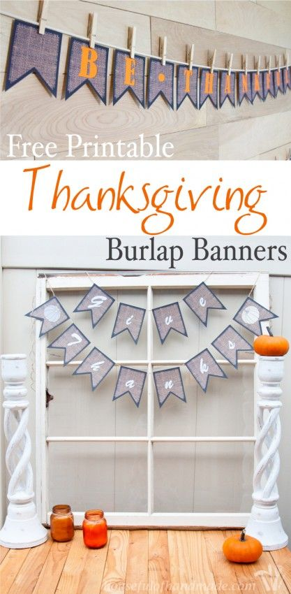 Thanksgiving Burlap Banners The O 39 Jays Burlap And Banners