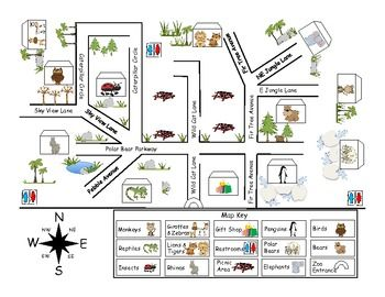 Zoo Map Pack For Play Mat Felt Templates And More