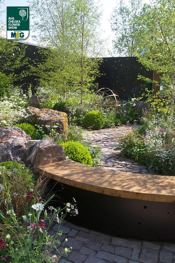 RHS Chelsea Flower Show - Show Garden - Vital Earth The Night Sky Garden Bord Na…