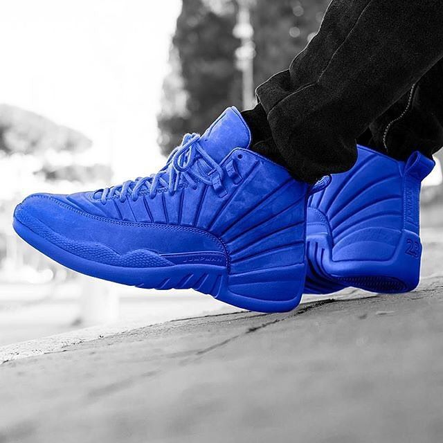 "Air Jordan 12 ""Blue Suede Customs"""