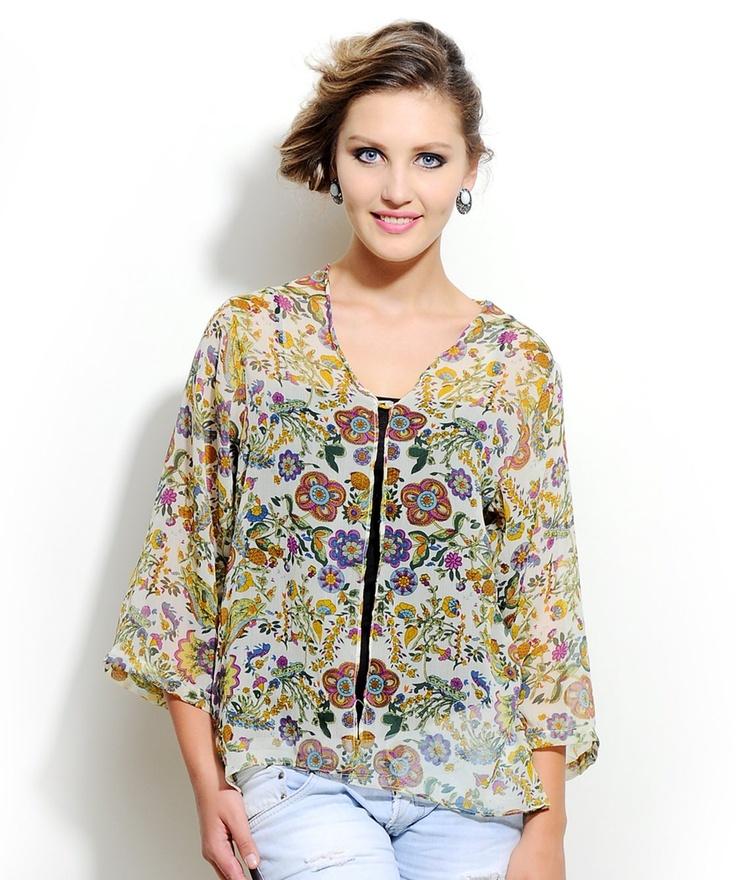 Floral #Kaftan http://www.mydesignersales.com/designers-2/corsage/printed-kaftan-by-corsage.html