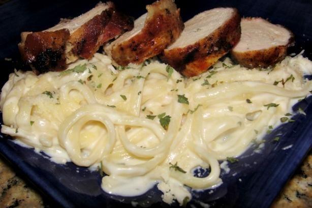 Weight watcher's Fettuccine Alfredo recipe, will add some shrimp or crawfish tonight!