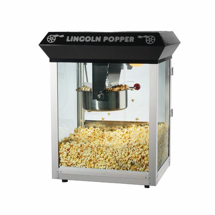 Lincoln Antique Popcorn Machine in Black