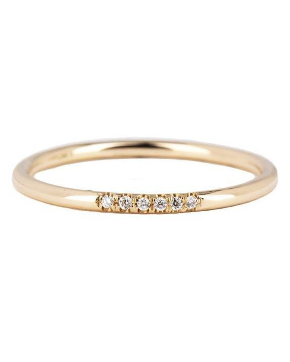 aa6e0e3411ae5a The Prettiest Delicate Wedding Bands for Modern Brides   Ring designs   Wedding  bands, Wedding Jewelry, Pave ring