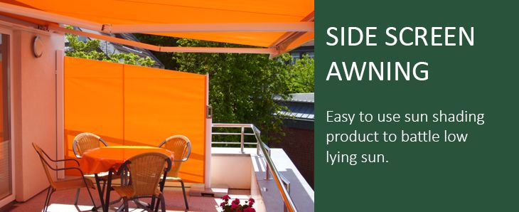 Side opening retractable blinds for screening and wind protection. Made to measure. Markilux 790 retractable side awning