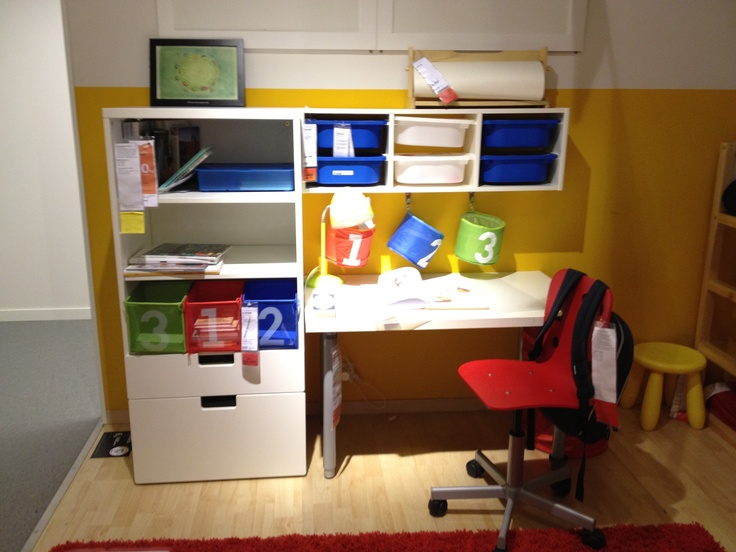 Ikea zona estudio para ni os condecorando pinterest - Pegatinas pared infantiles ikea ...