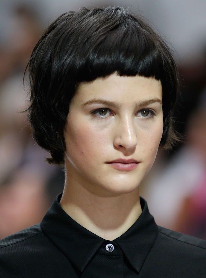 Best 25 very short bangs ideas on pinterest short fringe hairstyles very short bob and short - Femme coupe courte ...