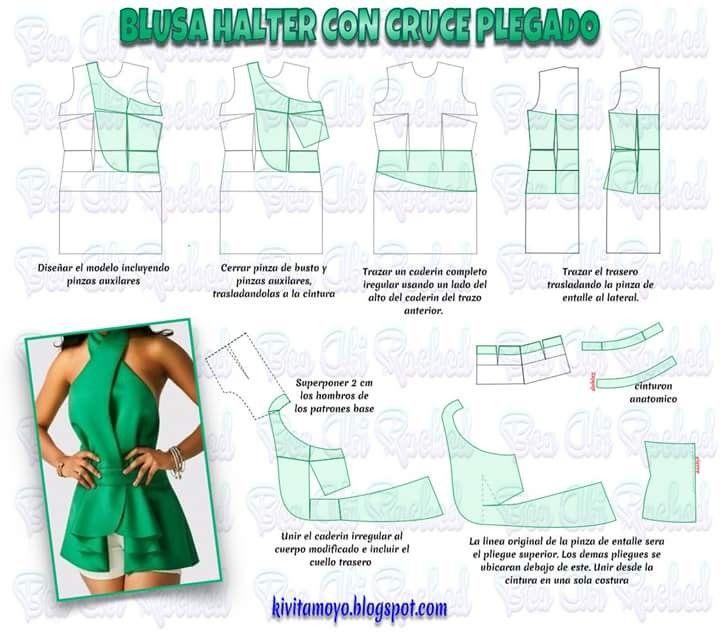 2824 besten moldes vestidos Bilder auf Pinterest | Kleidermuster ...