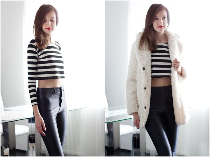Striped Crop Top More photos on Lorietta.cz blog: http://lorietta.cz/casual-tops/