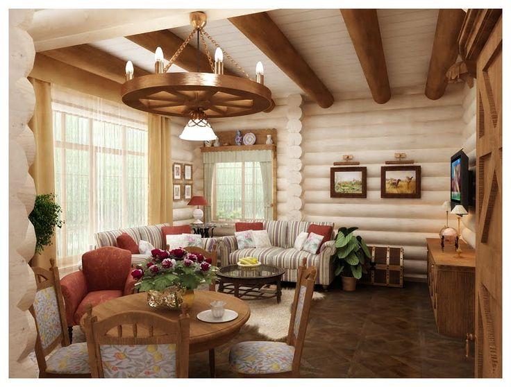 бревенчатый дом интерьер - Поиск в Google