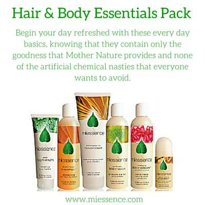 #Miessence Certified #Organic #Hair and Body Essentials Pack