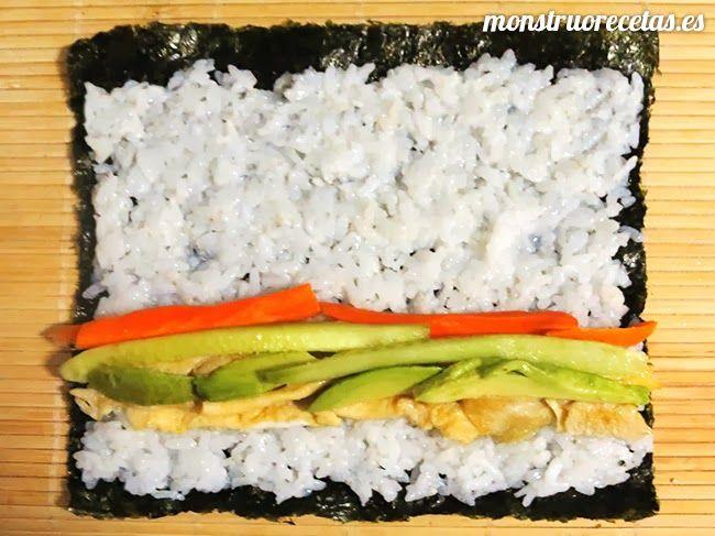 Receta de Sushi. Diferentes varientes y combinaciones - El Monstruo de las Recetas