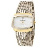 Anne Klein Women's 108401MPTT Diamond Accented Two-Tone Chain Bracelet Watch (Watch)By Anne Klein