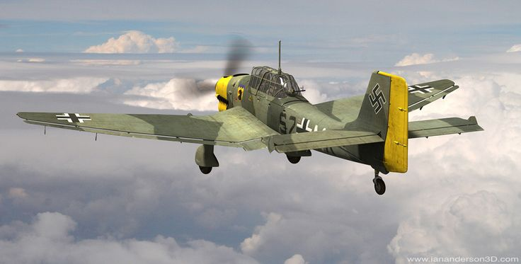 Ju87 modelled and rendered in MODO