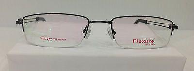 Flexure Fx25 Col Black Flexible Titanium Eyeglasses Frame 53mm 19mm 140mm New