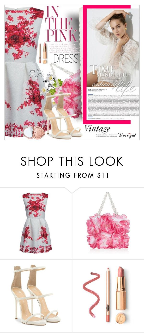 """Rosegal Vintage Love - Contest with a Prize!"" by aksalis ❤ liked on Polyvore featuring Monsoon, Giuseppe Zanotti, Too Faced Cosmetics and vintage"