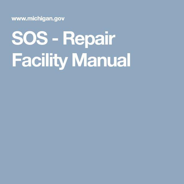 SOS - Repair Facility Manual