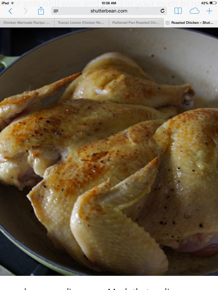how to cook a flattened roast chicken