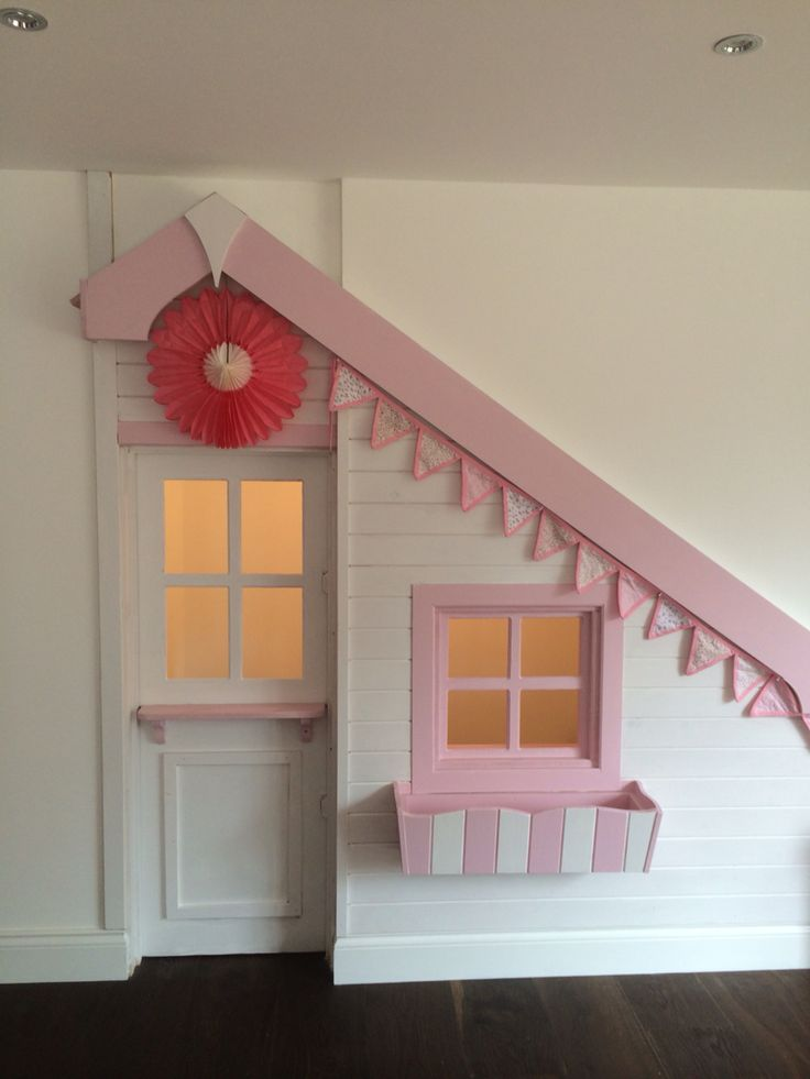 Under stairs playhouse with motion detector light