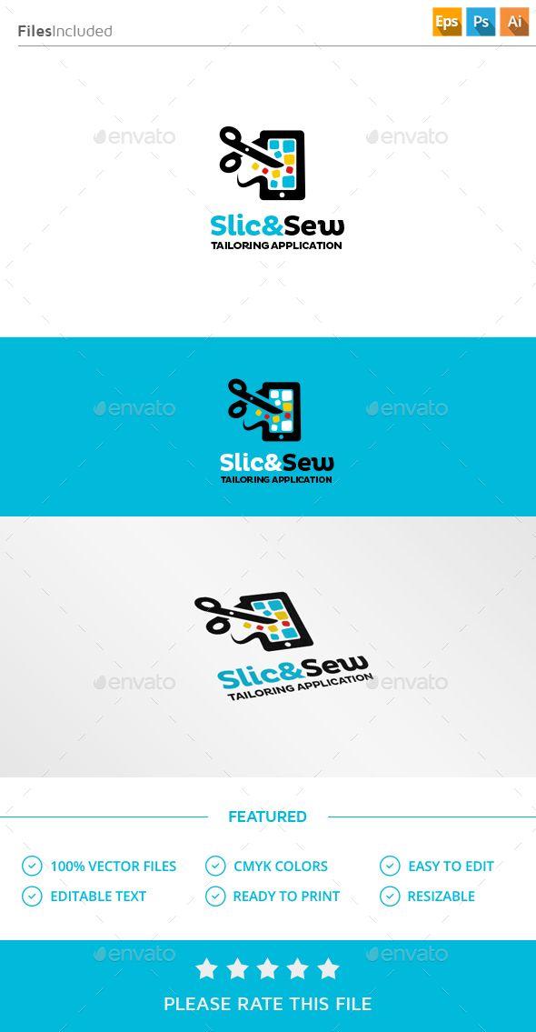 Tailor App  Logo Design Template Vector #logotype Download it here: http://graphicriver.net/item/tailor-app-logo/13556058?s_rank=413?ref=nesto