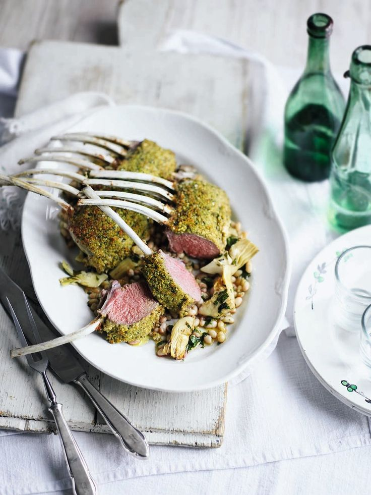 ... and garlic lamb recipes yummy food healthy food rack of lamb lamb
