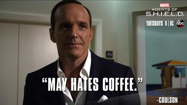 """S2 Ep4 """"Face My Enemy"""" - A true detective! #AgentsofSHIELD  May was so funny in that episode. the laughing.  the talking.  the dancing.  the fact that she talked."""