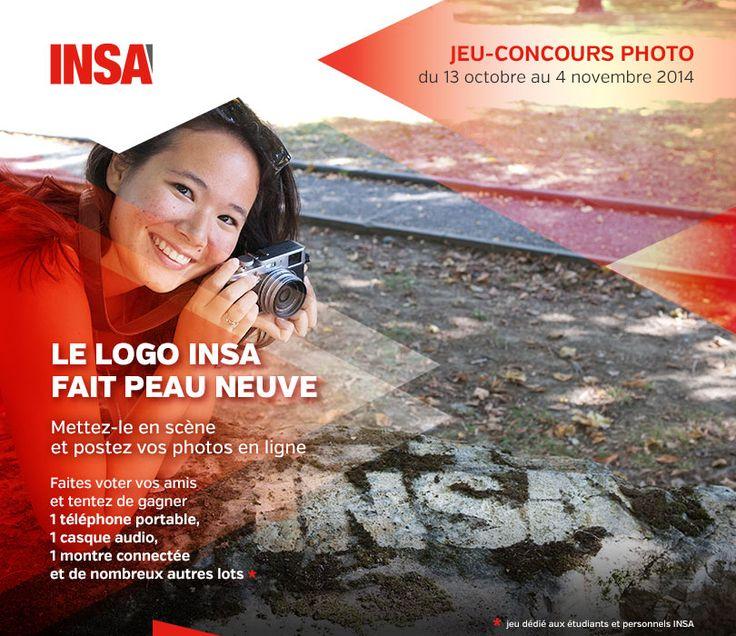 """Groupe INSA : jeu-concours photo """"METS EN SCÈNE LE LOGO INSA"""" à l'occasion de la création de leur nouveau logo"""