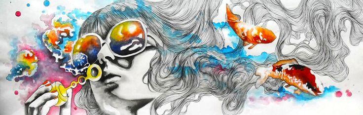 https://www.facebook.com/CarolCuibin/photos/a.642804422508696.1073741830.642629435859528/752064168249387/?type=3&theater KOI FISH (acrílico, tinta china, grafito)