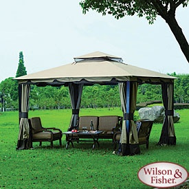 Wilson u0026 Fisher 10 x 12 Monterey Gazebo Replacement Canopy Garden Winds & 13 best Ideas for the House images on Pinterest | Allen roth ...