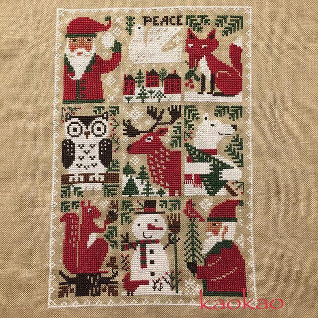 2016.11.09 木枯らし一号が、秋の花粉も吹き飛ばしてくれたようで、もうすっかりティッシュとさよならできました。プレイリーさんのサンタさん、出来上がり。 クリスマスものをもう1つくらいやりたいな。 #刺繍 #クロスステッチ #crosstitch #embroidery #theprairieschooler