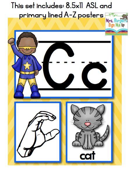 Mrs. Burgen's Sign Me Up American Sign Language Alphabet