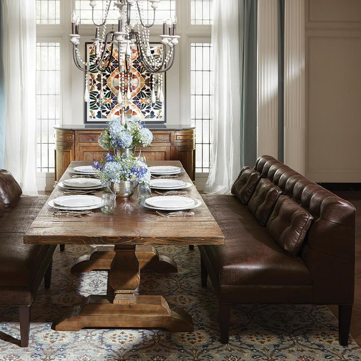 Add Some Drama The Good Kind To Your Next Dinner Party Dining BenchDining Room