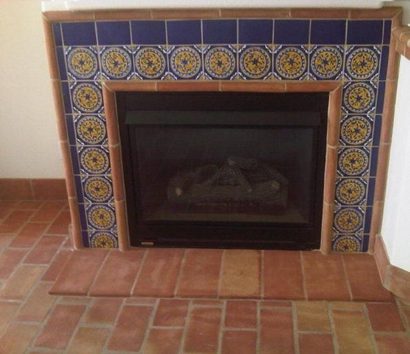 40 best Mexican tile fireplace images on Pinterest | Mexican tiles ...