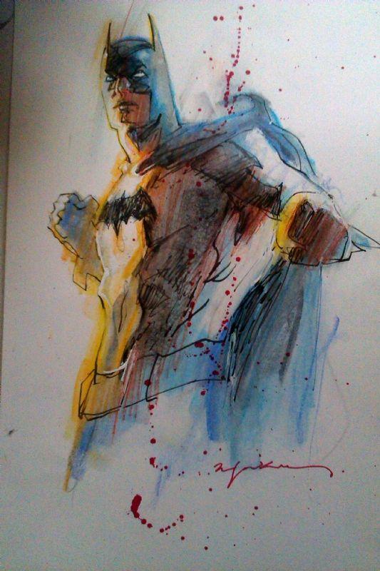 Batman - Sienkiewicz Comic Art