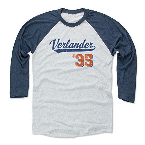Justin Verlander Script B Detroit Men's Baseball T-Shirt S Indigo / Ash