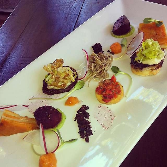 Darlington Estate Restaurant and Winery - outstanding vegetarian tasting plate
