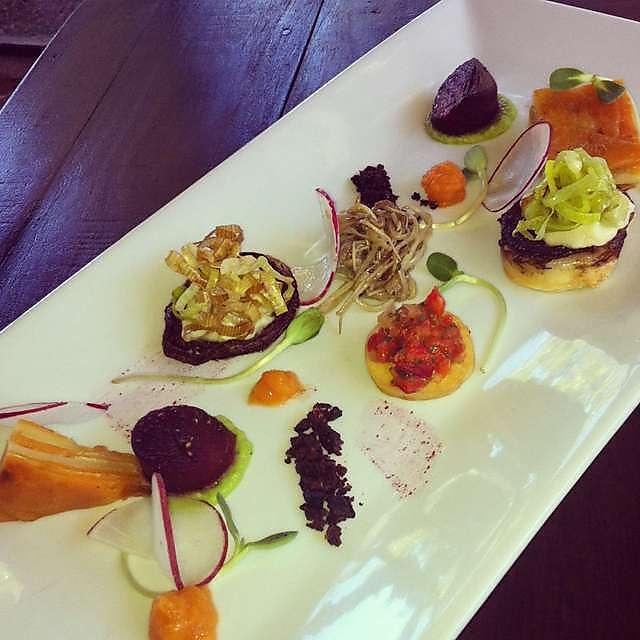 Darlington Estate Restaurant and Winery - outstanding vegetarian tasting plate