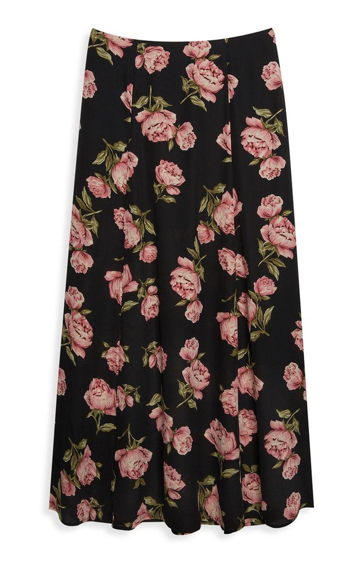 Primark - Floral Split Front Maxi Skirt